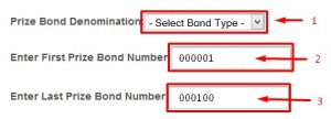 prize bond result series check method for the previous six years
